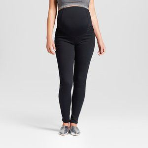 Maternity Crossover Panel Skinny Jeans Black